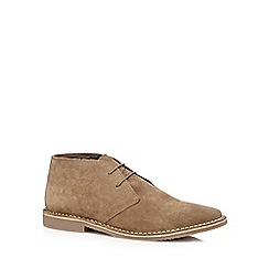 Red Herring - Taupe suede desert boots