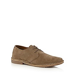 Red Herring - Taupe suede desert shoes
