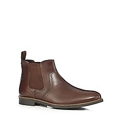Red Tape - Brown 'Newton' Chelsea boots