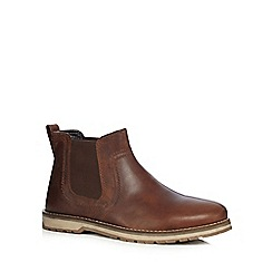 Red Tape - Brown 'Newry' Chelsea boots