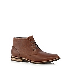 Rockport - Tan leather lace up Chukka boots