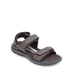 Rockport - Brown leather two part sandals