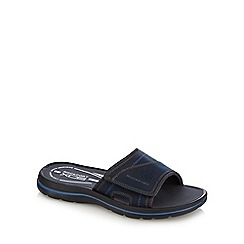 Rockport - Tan leather velcro sandal sliders