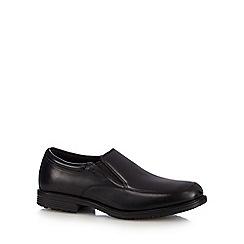 Rockport - Black leather smart slip on shoes