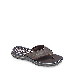 Rockport - Dark brown 'Get Your Kicks' thong sandals
