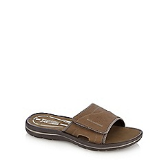 Rockport - Tan velcro sliders