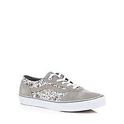 Vans - Grey suede floral print trainers