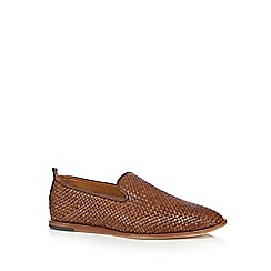 H By Hudson - Tan 'Ipanema' weave slip-on shoes