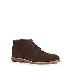 H By Hudson - Dark brown 'Houghton 3' Chukka boots