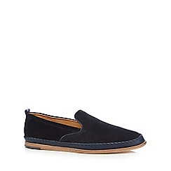 H By Hudson - Navy 'Macuco' slip-on shoes