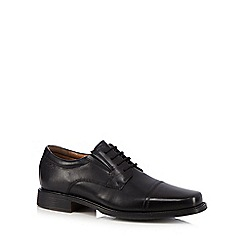 Clarks - Black 'Driggs Cap' lace up shoes
