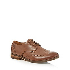 Clarks - Tan leather 'Exton' brogues
