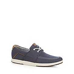 Clarks - Navy 'Norwin Go' shoes