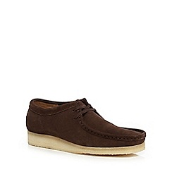 Clarks - Dark brown 'Wallabee' casual suede shoes