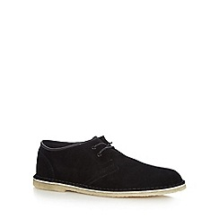 Clarks - Black suede 'Jink' lace up shoes