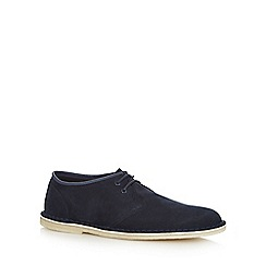 Clarks - Navy suede 'Jink' lace up shoes