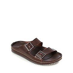 Clarks - Brown double buckle sandals