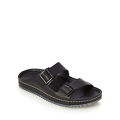 Clarks - Black double buckle sandals