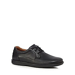 Clarks - Black 'Butleigh Edge' leather lace up shoes