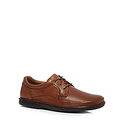 Clarks - Tan 'Butleigh Edge' leather lace up shoes