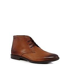 Clarks - Tan 'Hawkley Rise' Chukka boots