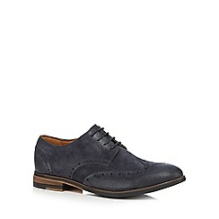 Clarks - Blue 'Exton' suede brogues