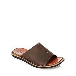 Clarks - Tan slide sandals