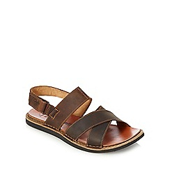 Clarks - Tan leather µLynton Bayð sandals