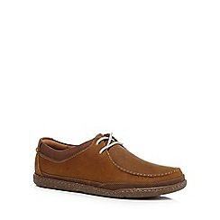 Clarks - Tan 'Trapell Pace' casual suede shoes