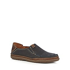 Clarks - Navy 'Trapell Form' casual slip-on shoes