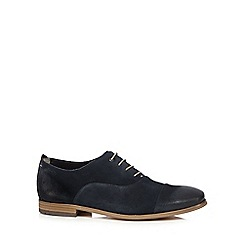 Clarks - Big and tall dark blue 'chinley' lace up shoes