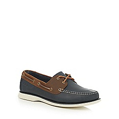 Clarks - Big and tall navy 'port view' boat shoes