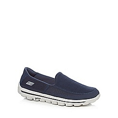 Skechers - Navy 'Go Walk 2' slip on shoes