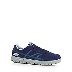 Skechers GOrun - Navy 'Go Walk Harbor' trainers