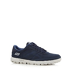 Skechers - Navy 'Go Walk Stoic' trainers