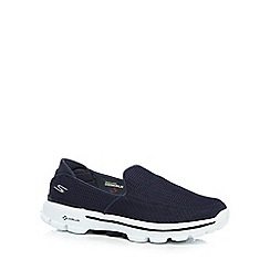 Skechers - Navy 'Go Walk 3' slip-on shoes