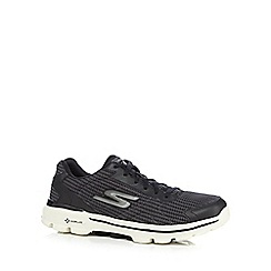 Skechers GOrun - Black 'Go Walk ³ 3 Fitknit' trainers