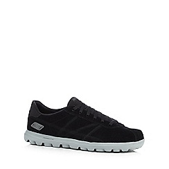 Skechers GOrun - Black 'Go Walk Harbor' trainers