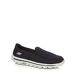 Skechers - Black 'Go Walk 2' slip on shoes