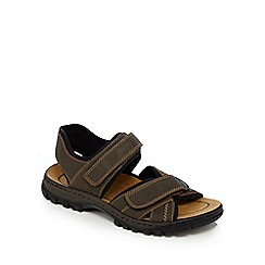 Rieker - Big and tall brown rip tape sandals