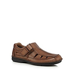 Rieker - Tan leather closed toe sandals