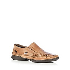 Rieker - Tan 'Antistress' slip-on shoes