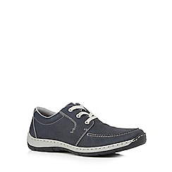 Rieker - Big and tall navy casual lace up shoes