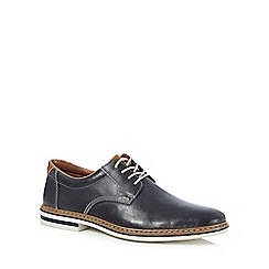 Rieker - Navy leather lace up Derby shoes