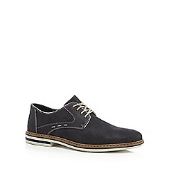 Rieker - Navy suede lace up Derby shoes