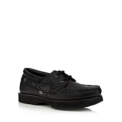 Kickers - Black boat shoes