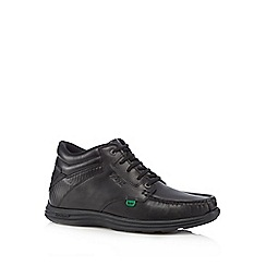 Kickers - Black leather lace up boots