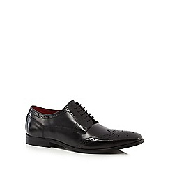 Base London - Big and tall black 'harold' brogues