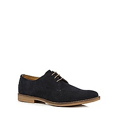 Base London - Navy suede 'Bayham' lace up shoes