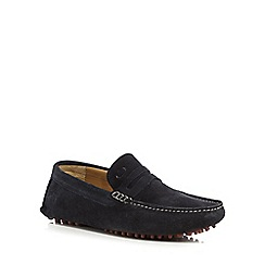 Base London - Navy 'Morgan' loafers